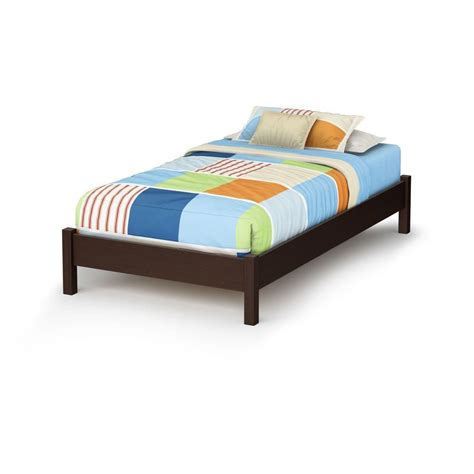 bed legs home depot south shore lux twin platform bed with legs chocolate