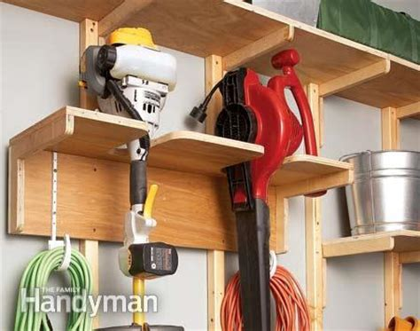 Garage Storage Yard Tools Garage Storage Solutions One Weekend Wall Of Storage