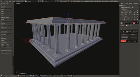 blender tutorial greek temple part 03 blender modeling my travels using