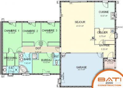plan de maison plain pied 5 chambres maison plain pied 5 chambres