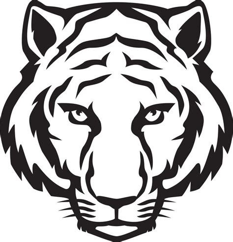tiger template printable white tiger printables search arts and