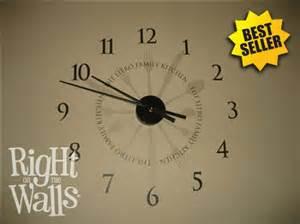 kitchen utensil clock wall decals vinyl art stickers stylish numbers wall clock sticker classic clock wall decor