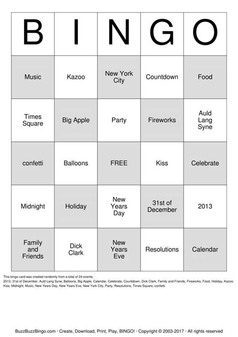 new year picture bingo new years bingo cards to print and customize
