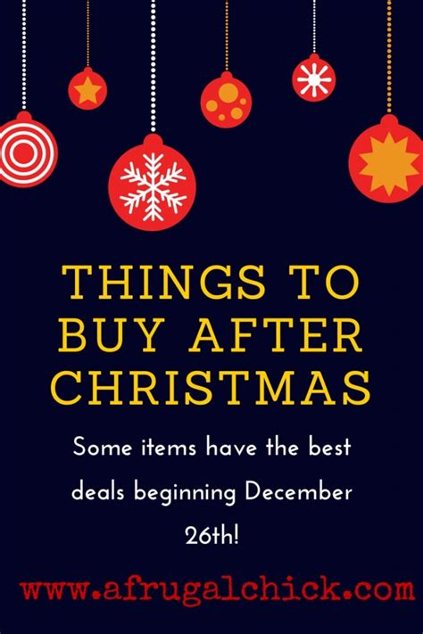 things to buy beginning december 26th