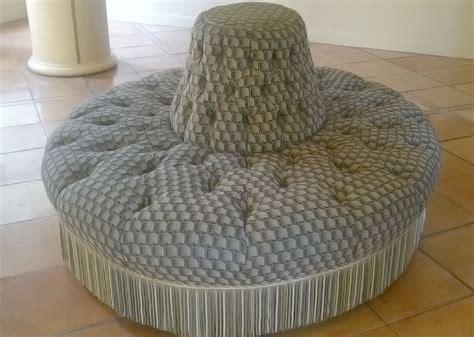 Custom Made Ottoman Custom Made Ottoman Upholstered In Nuys California