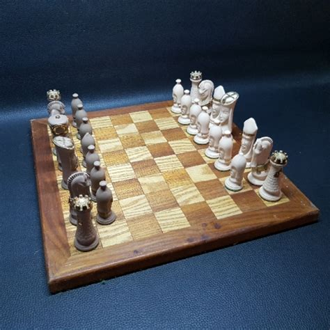 ceramic chess set other antiques collectables large stylized ceramic