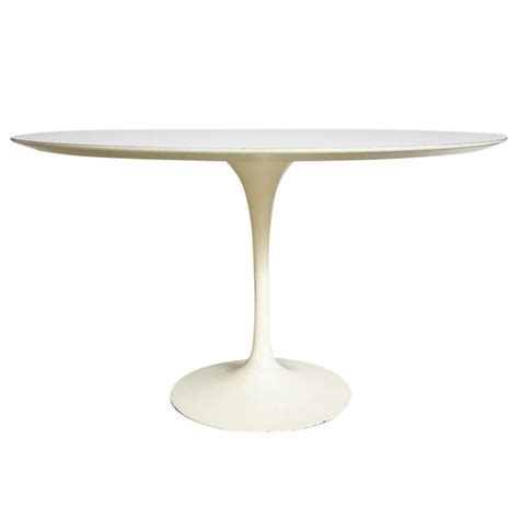 saarinen knoll dining table white laminate usa 1950s for