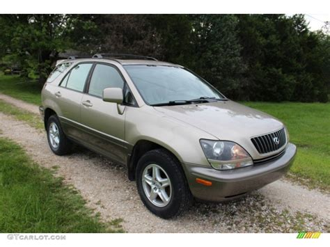 gold lexus rx burnished gold metallic 2000 lexus rx 300 awd exterior