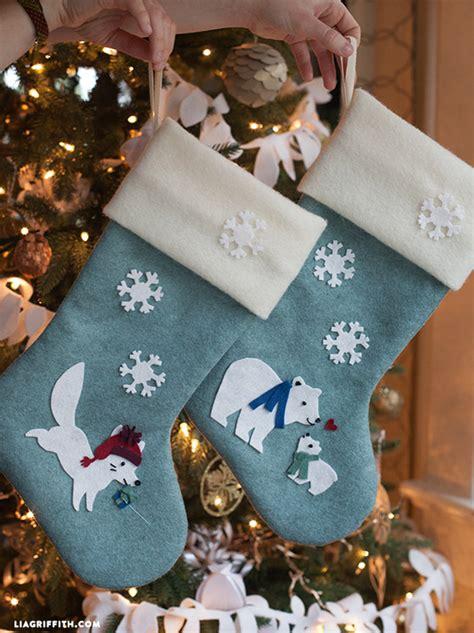 felt christmas stocking decoration templates diy felt lia griffith
