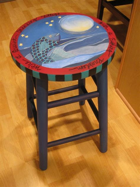 painted stool painted chairs