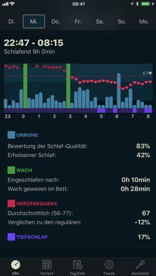 schlaf aufzeichnen app vowe dot net sleep tracker f 252 r die apple