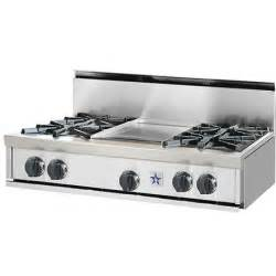 Cooktop With Griddle Bluestar Rangetop Style Cooktop Gas Cooktop With