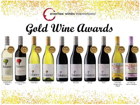 Cape Brkt Gold gold wine awards balance wines