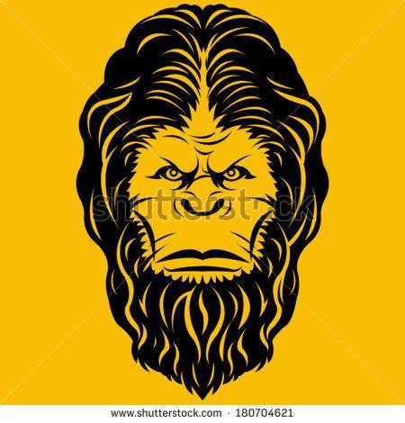 shutterstock stock bigfoot monster bigfoot yeti head illustration stock vector