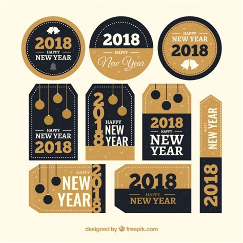 New Year Stickers