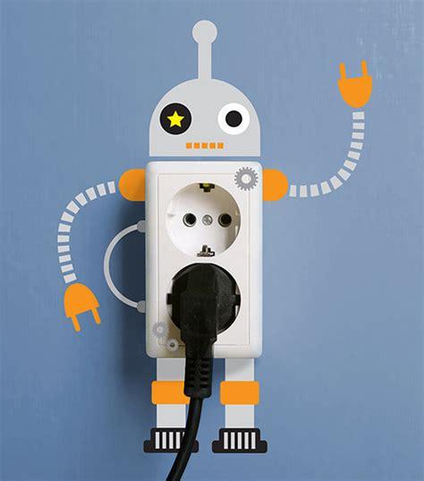 membuat robot listrik stiker dinding kreatif untuk stop kontak anda