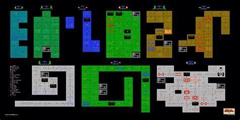 legend of zelda dungeon maps second quest the legend of zelda 2nd quest dungeons 24 quot x 12 quot poster