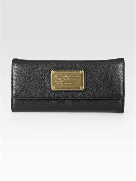 Classic In Black In Marc By Marc Satin Pumps by Lyst Marc By Marc Classic Q Continental Wallet In