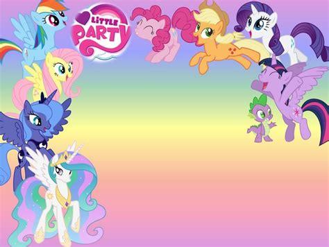 theme line little my best 25 my little pony invitations ideas on pinterest