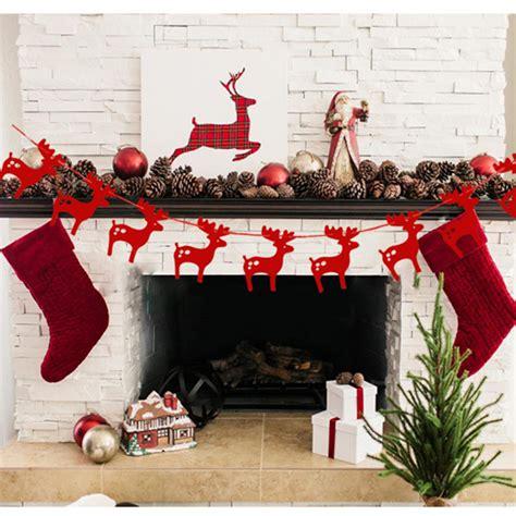christmas decorations 2017 aliexpress com buy 3m elks garlands christmas decoration hanging paper 2017 new creative