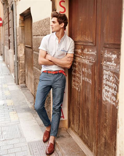 picture of grey a white shirt and brown leather shoes