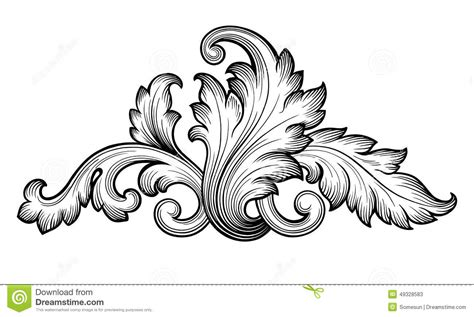 free baroque design elements vector lines clipart baroque pencil and in color lines clipart