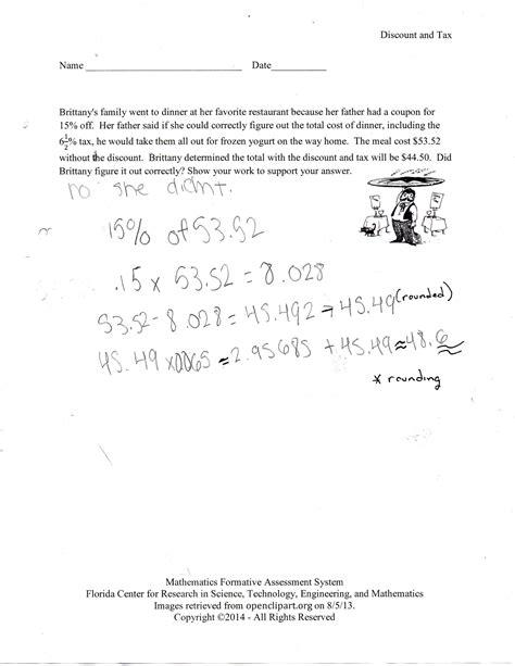 Tax And Tip Worksheet by Tax And Tip Worksheet Sharebrowse