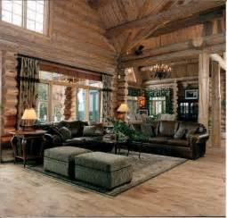 living room log cabins