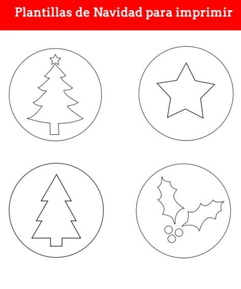 manualidades plantillas de navidad para imprimir