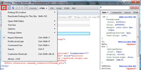 firebug console firebug tutorial web development tools w3resource