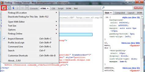 firebug console firebug tutorial web development tools w3resource