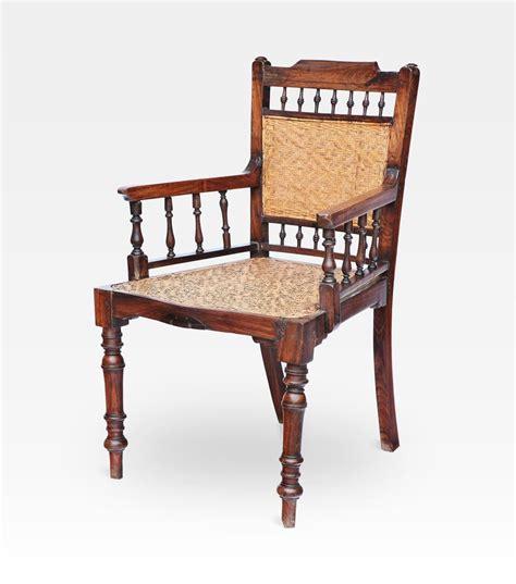 sedia antica sedia indiana coloniale intrecciata legno di teak cod