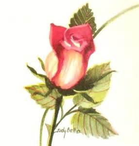 rosebud watercolor painting print