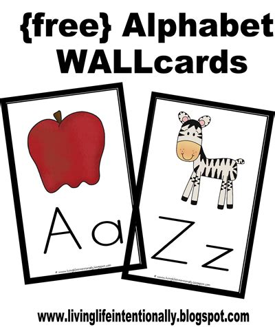 printable alphabet letters for wall free alphabet wallcards flashcards