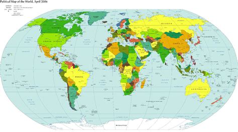 Map A4 world map canvas print a4 size 297 x 210mm ebay