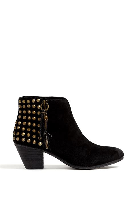 studded ankle boots ash black nevada suede studded ankle boot in black lyst