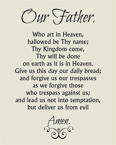 The Lord Prayer our prayer catholic lord s prayer digital by
