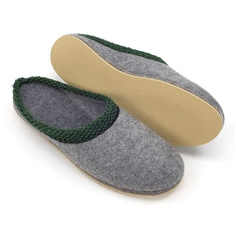 rubber soled slippers top quality felt slippers with rubber soles