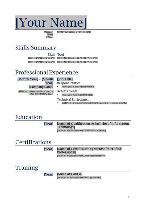 resume sample doc prettify co