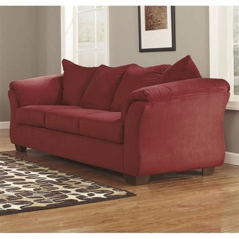 ashley furniture darcy sofa ashley darcy fabric sofa in salsa 7500138