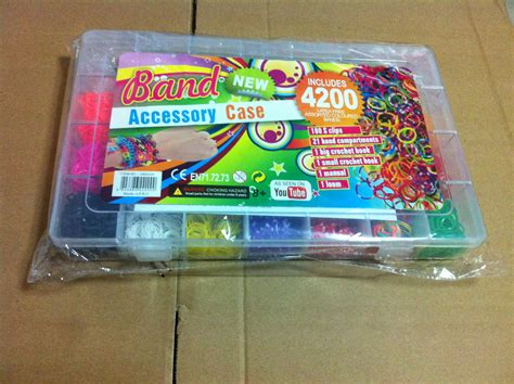 Rainbow Loom Bracelet Box Kit Refill rainbow loom storage refill kit 4200pcs rubber bands