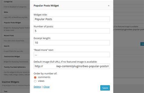 Popular Posts by Top 5 Popular Posts Widget Plugins For
