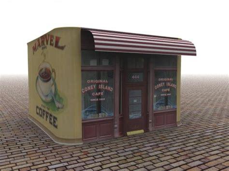 coney cafe coney coffee cafe 3d model sharecg