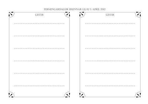 free printable guest book template free printable guest book template 28 images wedding