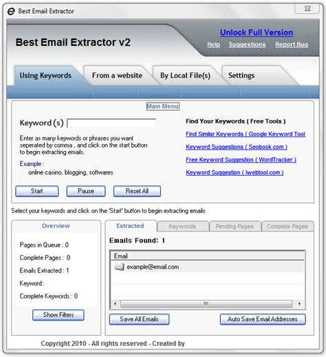 Best Email Address For Search Best Email Extractor V2 Is An Email Spider Software Which Allows You To Extract