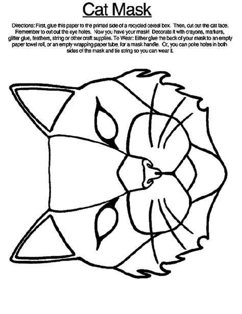cat mask coloring page crayola com
