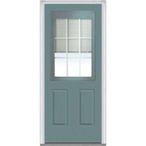 Steel Glass Panel Exterior Door Blinds Between The Glass Steel Doors Front Doors Exterior Doors The Home Depot