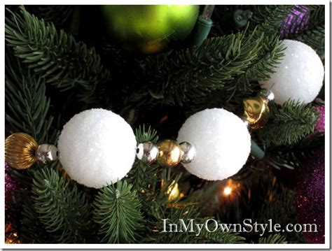 snowball garland how to make a snowball tree garland in my own style