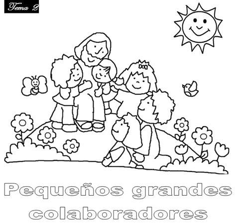 imagenes para colorear jesus y los niños infancia misionera colorear y pintar jes 250 s y los ni 241 os