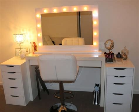 up and desk uncategorized makeup desk with lighted mirror newest